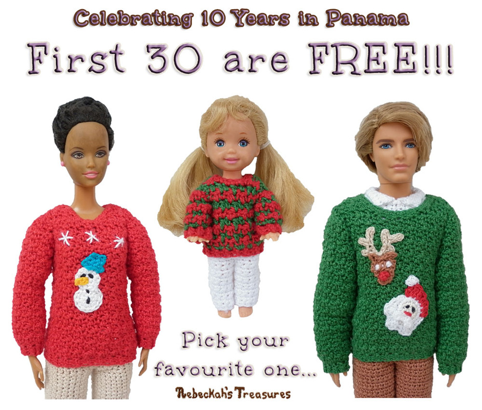 First 30 Copies of these patterns are FREE!!! Next 30 are 50% OFF... via @beckastreasures