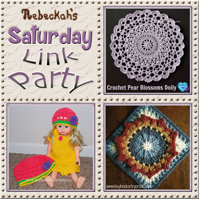 Share what you're making, increase your reach and have some fun with Rebeckah's 42nd Saturday Link Party with @beckastreasures | Featuring @erangi_udeshika @PoshPoochDesign & @BuyHookByCrook