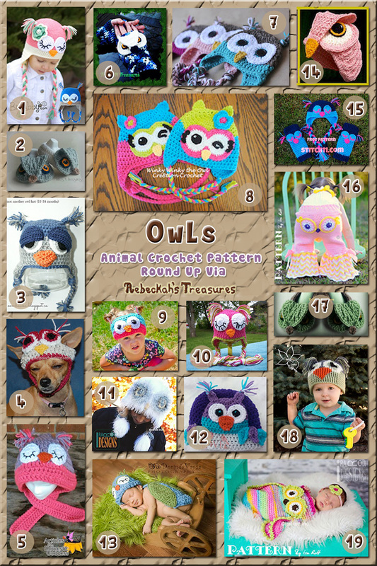 40 Outlandish Owl Attire including hats, props & more - Part A – via @beckastreasures with @stitch11_corina | 3 Owl Animal Crochet Pattern Round Ups!