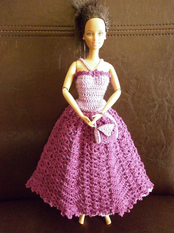 Crocheted Barbie Gowns Picswe