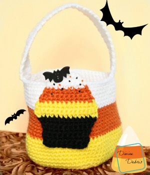 Candy Corn Bag by Amber of Divine Debris - Featured on @beckastreasures Saturday Link Party!