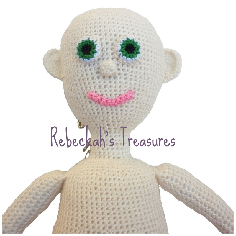 WIP Crochet Amigurumi Dolly by Rebeckah's Treasures