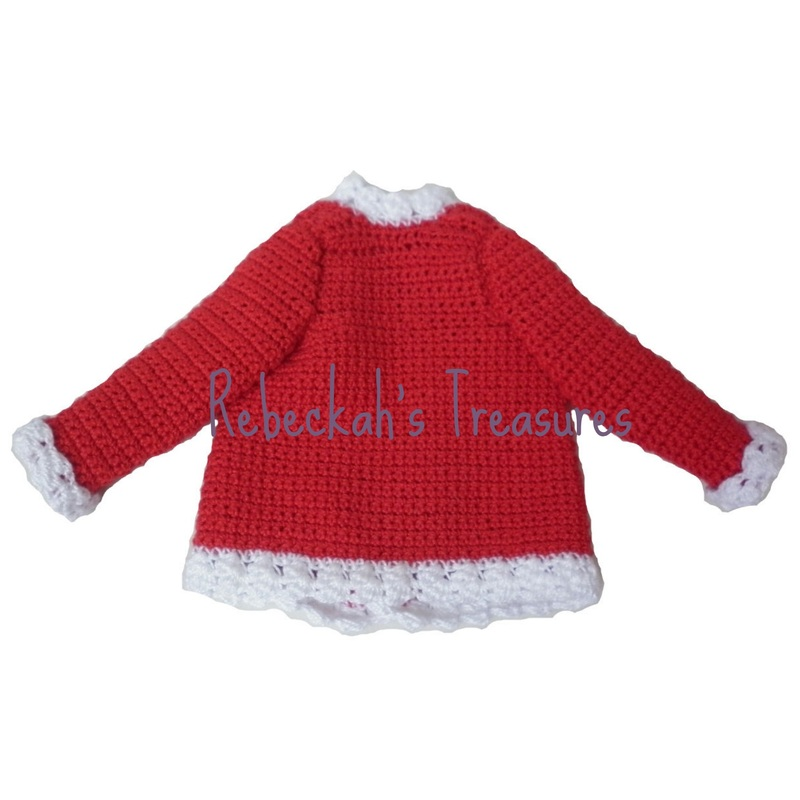 Crochet Santa Ken Claus Coat by Rebeckah's Treasures