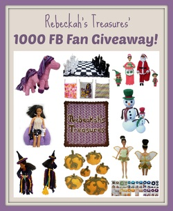 Rebeckah's Treasures' 1000 FB Fan Giveaway end Saturday, January 11th at midnight.