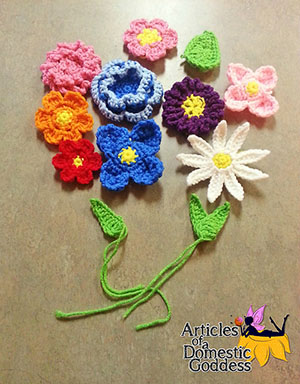 ​Springtime Flower Assortment - Free Crochet Pattern by @ArtofaDG | Featured at Articles of a Domestic Goddess - Sponsor Spotlight Round Up via @beckastreasures | #fallintochristmas2016 #crochetcontest #spotlight #crochet #roundup
