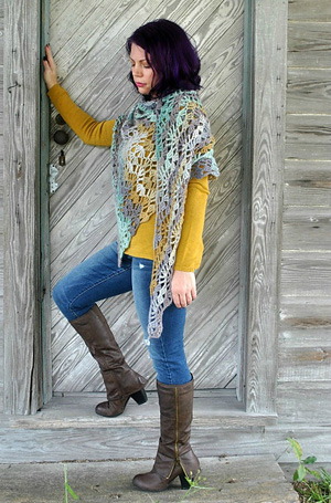 Calypso Shawl | Featured on @beckastreasures Tuesday Treasures #11 with @Cre8tionCrochet!