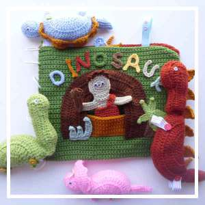 My Dinosaur Playbook - Crochet Pattern by @CCWJoanita | Featured at Creative Crochet Workshop - Sponsor Spotlight Round Up via @beckastreasures | #fallintochristmas2016 #crochetcontest #spotlight #crochet #roundup