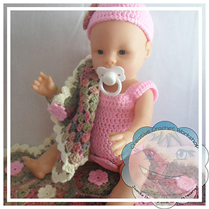 Baby Doll Little Spring Set - Crochet Pattern by @CCWJoanita | Featured at Creative Crochet Workshop - Sponsor Spotlight Round Up via @beckastreasures | #fallintochristmas2016 #crochetcontest #spotlight #crochet #roundup