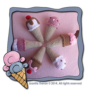 Ice Cream Treats - Free Crochet Pattern by @CCWJoanita | Featured at Creative Crochet Workshop - Sponsor Spotlight Round Up via @beckastreasures | #fallintochristmas2016 #crochetcontest #spotlight #crochet #roundup