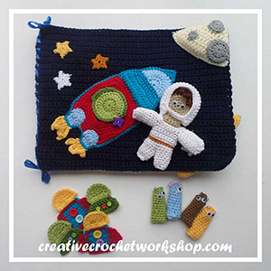 My Out in Space Playbook - Crochet Pattern by @CCWJoanita | Featured at Creative Crochet Workshop - Sponsor Spotlight Round Up via @beckastreasures | #fallintochristmas2016 #crochetcontest #spotlight #crochet #roundup
