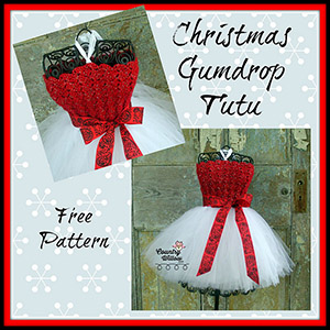 Christmas Gumdrop Tutu - Free Crochet Pattern by @countrywillow12 | Featured at Country Willow Designs - Sponsor Spotlight Round Up via @beckastreasures | #fallintochristmas2016 #crochetcontest #spotlight #crochet #roundup