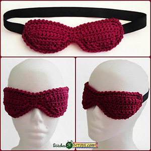 Contoured Eye Mask | Featured at Tuesday Treasures #17 via @beckastreasures with @WhichCraft3 | #crochet