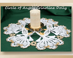 Circle of Angels Crinoline Doily - Crochet Pattern by @crochetmemories Featured at Crochet Memories - Sponsor Spotlight Round Up via @beckastreasures | #fallintochristmas2016 #crochetcontest #spotlight #crochet #roundup