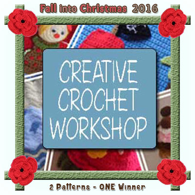 Creative Crochet Workshop is a prize sponsor in this year's Fall into Christmas #crochet #contest hosted by @beckastreasures with @CCWJoanita! | SUBMISSIONS close December 4th, 2016 | VOTING begins December 5th, 2016 | What are you waiting for? Submit your 3 favourite projects TODAY and #WIN!!! | Learn more here: https://goo.gl/zYdFsN #fallintochristmas2016