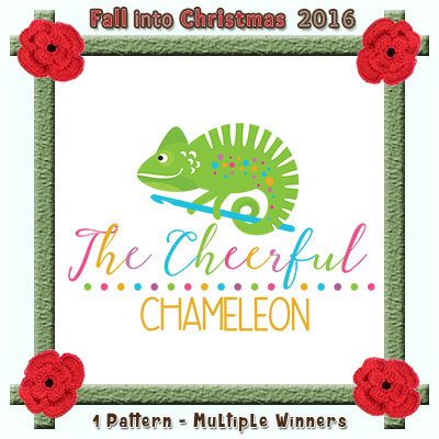 The Cheerful Chameleon is a prize sponsor in this year's Fall into Christmas #crochet #contest hosted by @beckastreasures with @CheeryChameleon! | SUBMISSIONS close December 4th, 2016 | VOTING begins December 5th, 2016 | What are you waiting for? Submit your 3 favourite projects TODAY and #WIN!!! | Learn more here: https://goo.gl/zYdFsN #fallintochristmas2016