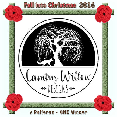 Country Willow Designs is a prize sponsor in this year's Fall into Christmas #crochet #contest hosted by @beckastreasures with @countrywillow12! | SUBMISSIONS close December 4th, 2016 | VOTING begins December 5th, 2016 | What are you waiting for? Submit your 3 favourite projects TODAY and #WIN!!! | Learn more here: https://goo.gl/zYdFsN #fallintochristmas2016