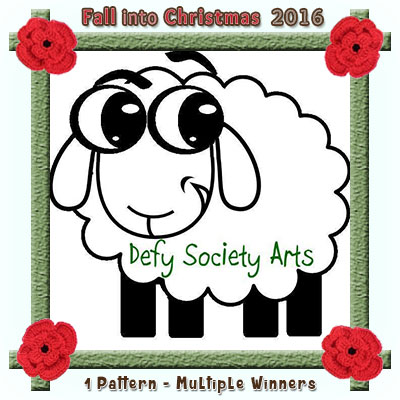 Defy Society Arts is a prize sponsor in this year's Fall into Christmas #crochet #contest hosted by @beckastreasures with @defysocietyarts! | SUBMISSIONS close December 4th, 2016 | VOTING begins December 5th, 2016 | What are you waiting for? Submit your 3 favourite projects TODAY and #WIN!!! | Learn more here: https://goo.gl/zYdFsN #fallintochristmas2016