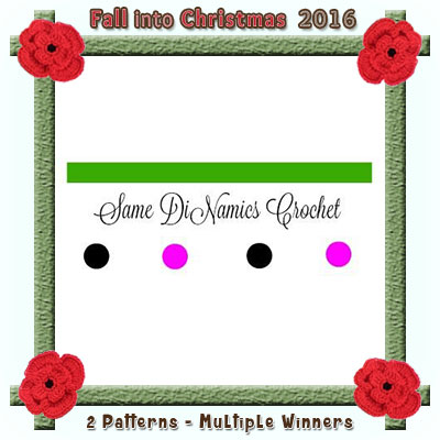 Same DiNamics Crochet is a prize sponsor in this year's Fall into Christmas #crochet #contest hosted by @beckastreasures with @SameDiNamics! | SUBMISSIONS close December 4th, 2016 | VOTING begins December 5th, 2016 | What are you waiting for? Submit your 3 favourite projects TODAY and #WIN!!! | Learn more here: https://goo.gl/zYdFsN #fallintochristmas2016