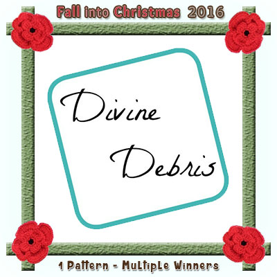 Divine Debris is a prize sponsor in this year's Fall into Christmas #crochet #contest hosted by @beckastreasures with @divinedebrisweb! | SUBMISSIONS close December 4th, 2016 | VOTING begins December 5th, 2016 | What are you waiting for? Submit your 3 favourite projects TODAY and #WIN!!! | Learn more here: https://goo.gl/zYdFsN #fallintochristmas2016