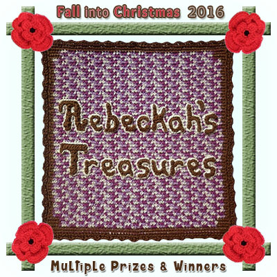 Rebeckah's Treasures presents Fall into Christmas #crochet #contest 2016 via @beckastreasures featuring 26 prize sponsors! | SUBMISSIONS close December 4th, 2016 | VOTING begins December 5th, 2016 | What are you waiting for? Submit your 3 favourite projects TODAY and #WIN!!! | Learn more here: https://goo.gl/zYdFsN #fallintochristmas2016