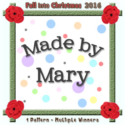 Made by Mary is a prize sponsor in this year's Fall into Christmas #crochet #contest hosted by @beckastreasures with #madebymary! | SUBMISSIONS close December 4th, 2016 | VOTING begins December 5th, 2016 | What are you waiting for? Submit your 3 favourite projects TODAY and #WIN!!! | Learn more here: https://goo.gl/zYdFsN #fallintochristmas2016