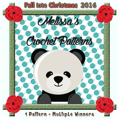 Melissa's Crochet Patterns is a prize sponsor in this year's Fall into Christmas #crochet #contest hosted by @beckastreasures with @melissaspattrns! | SUBMISSIONS close December 4th, 2016 | VOTING begins December 5th, 2016 | What are you waiting for? Submit your 3 favourite projects TODAY and #WIN!!! | Learn more here: https://goo.gl/zYdFsN #fallintochristmas2016