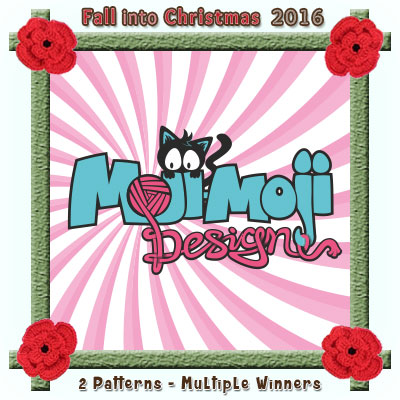 Moji-Moji Designs is a prize sponsor in this year's Fall into Christmas #crochet #contest hosted by @beckastreasures with @MojiMojiDesign! | SUBMISSIONS close December 4th, 2016 | VOTING begins December 5th, 2016 | What are you waiting for? Submit your 3 favourite projects TODAY and #WIN!!! | Learn more here: https://goo.gl/zYdFsN #fallintochristmas2016