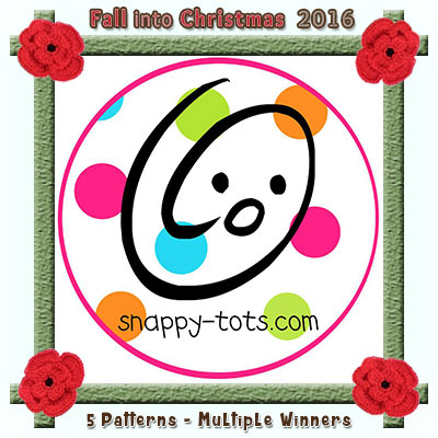 Snappy Tots is a prize sponsor in this year's Fall into Christmas #crochet #contest hosted by @beckastreasures with @snappytots! | SUBMISSIONS close December 4th, 2016 | VOTING begins December 5th, 2016 | What are you waiting for? Submit your 3 favourite projects TODAY and #WIN!!! | Learn more here: https://goo.gl/zYdFsN #fallintochristmas2016