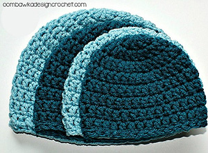 Simple Double Crochet Hat | Friday Feature #10 via @beckastreasures with @OombawkaDesign | See the latest designer features here: https://goo.gl/UIvoYx OR SIGN UP to get featured at Rebeckah's Treasures here: https://goo.gl/xjDP52 #crochet