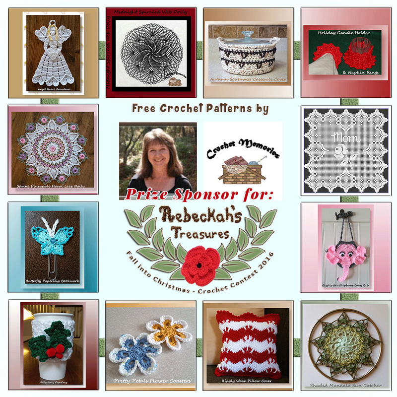 #Free Crochet Patterns by @crochetmemories to enjoy now! | Featured at Crochet Memories - Sponsor Spotlight Round Up via @beckastreasures | #fallintochristmas2016 #crochetcontest #spotlight #crochet #roundup