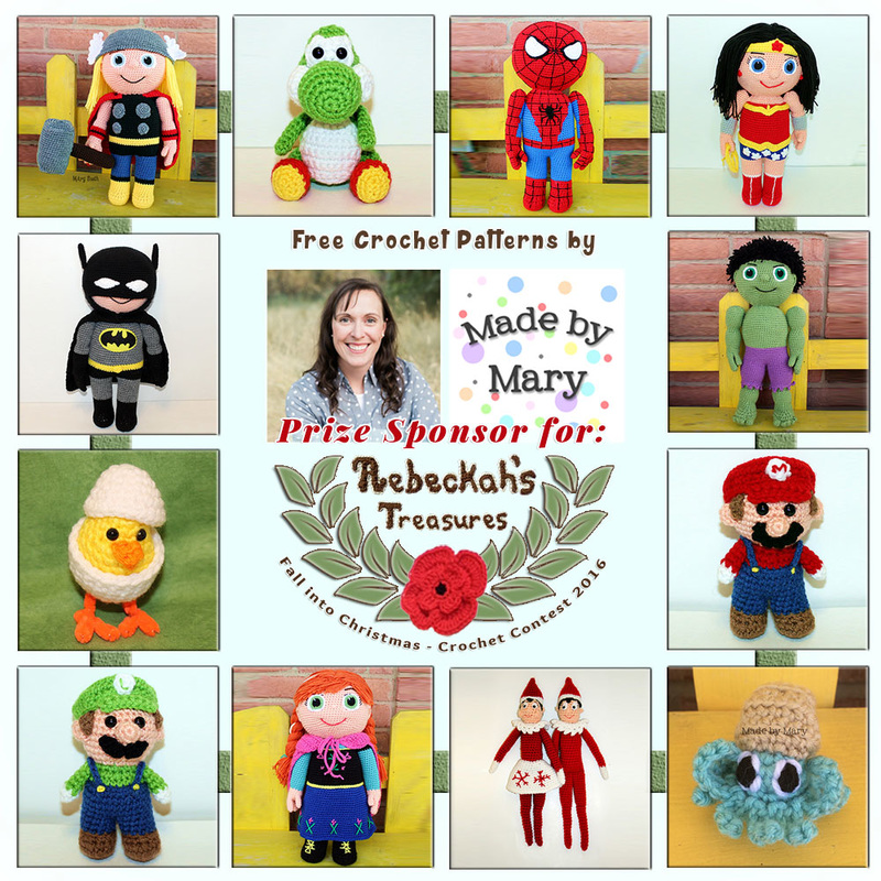 #Free Crochet Patterns by #MadebyMary to enjoy now! | Featured at Made by Mary - Sponsor Spotlight Round Up via @beckastreasures | #fallintochristmas2016 #crochetcontest #spotlight #crochet #roundup