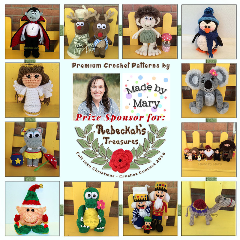 Premium Crochet Patterns by #MadebyMary to BUY or #WIN! | Featured at Made by Mary - Sponsor Spotlight Round Up via @beckastreasures | #fallintochristmas2016 #crochetcontest #spotlight #crochet #roundup