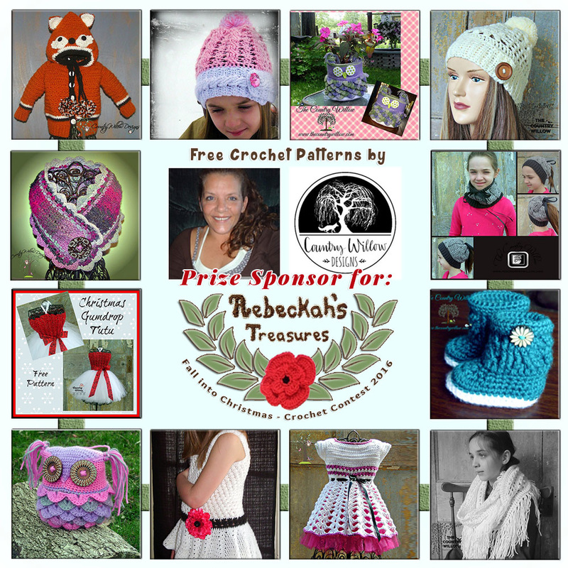 #Free Crochet Patterns by @countrywillow12 to enjoy now! | Featured at Country Willow Designs - Sponsor Spotlight Round Up via @beckastreasures | #fallintochristmas2016 #crochetcontest #spotlight #crochet #roundup