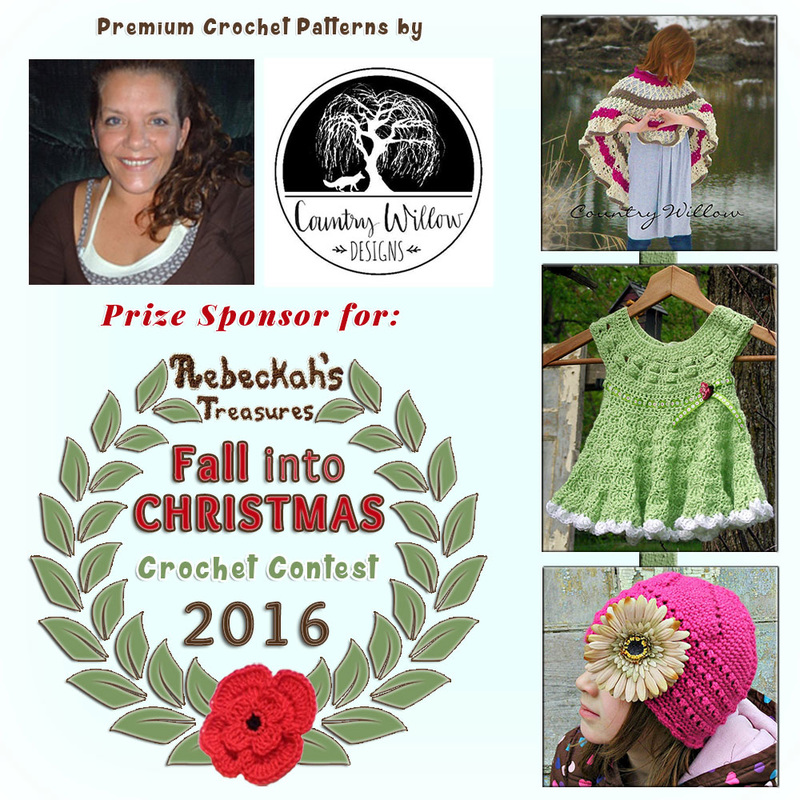 Premium Crochet Patterns by @countrywillow12 to BUY or #WIN! | Featured at Country Willow Designs - Sponsor Spotlight Round Up via @beckastreasures | #fallintochristmas2016 #crochetcontest #spotlight #crochet #roundup