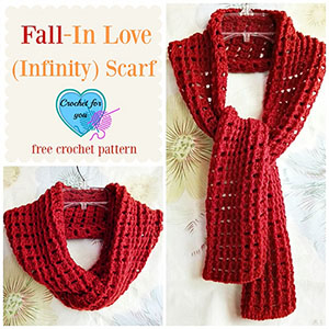 Fall in Love (Infinity) Scarf | Featured at Tuesday Treasures #23 via @beckastreasures with @erangi_udeshika | #crochet