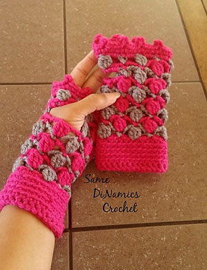 Floating Petals Fingerless Gloves | Friday Feature #14 via @beckastreasures with @samedinamics #crochet | See the latest designer features here: https://goo.gl/UIvoYx OR SIGN UP to get featured at Rebeckah's Treasures here: https://goo.gl/xjDP52 #crochet