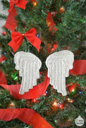 Tiny Angel Wings (Appliqué, Ornament, Earrings, Pendant) | Featured on @beckastreasures Saturday Link Party 56 with @SCCelinaLane!