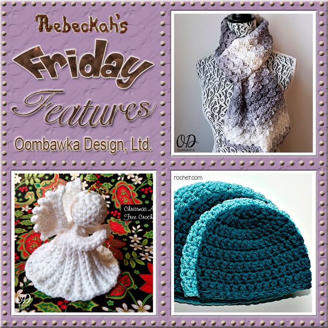 Meet Rhondda Mol of Oombawka Design, Ltd! | Friday Feature #10 via @beckastreasures with @OombawkaDesign | See 3 #crochet pattern features we all love and get to know her more! | See the latest designer features here: https://goo.gl/UIvoYx OR SIGN UP to get featured at Rebeckah's Treasures here: https://goo.gl/xjDP52