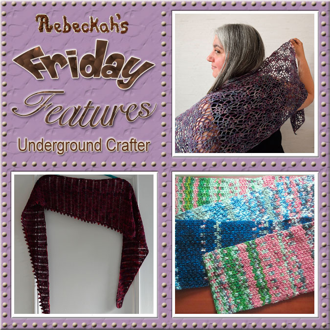 Marie Segares - Underground Crafter | Friday Feature #3 via @beckastreasures with @ucrafter | Come see 3 pattern features + get to know a little about her! #crochet #knit #designer