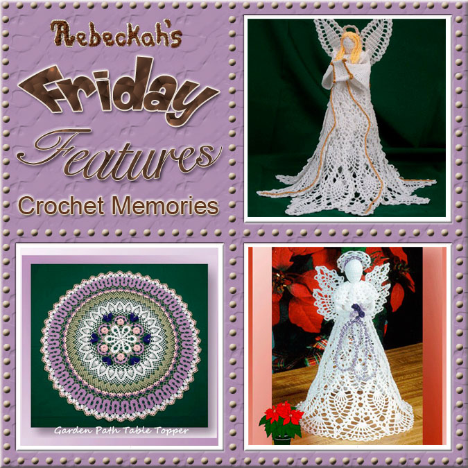 Cylinda Mathews - Crochet Memories | Friday Feature #4 via @beckastreasures with @crochetmemories | Come see 3 pattern features + get to know a little about her! #crochet #designer