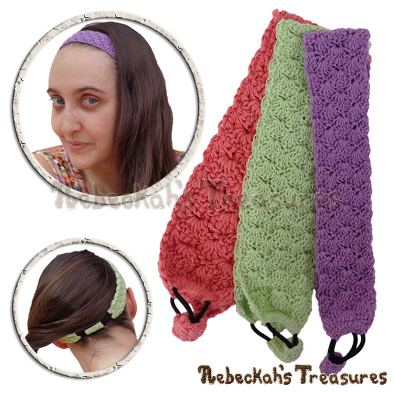 Adjustable Shells Headband by @beckastreasures | Limited Time Free Crochet Pattern for A Designer's Potpourri Year-Long CAL with @countrywillow12, @crochetmemories, @Sherrys2boyz & @ArtofaDG | #headband #crochet #pattern #shells #holidaygift #stashbuster | Join today!