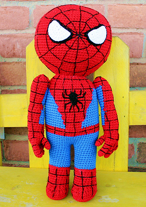 Arachnid Buddy - Kid Hero - Free Crochet Pattern by #MadebyMary | Featured at Made by Mary - Sponsor Spotlight Round Up via @beckastreasures | #fallintochristmas2016 #crochetcontest #spotlight #crochet #roundup
