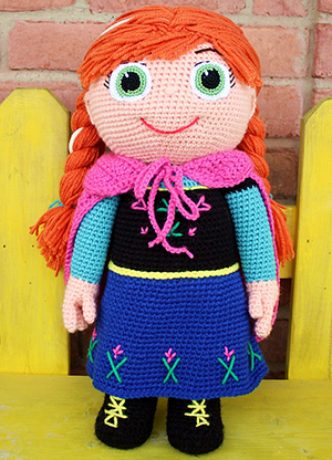 Winter Princess - Kid Character - Free Crochet Pattern by #MadebyMary | Featured at Made by Mary - Sponsor Spotlight Round Up via @beckastreasures | #fallintochristmas2016 #crochetcontest #spotlight #crochet #roundup