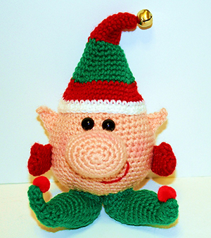 Winkie the Elf Noggin Pal Amigurumi - Crochet Pattern by #MadebyMary | Featured at Made by Mary - Sponsor Spotlight Round Up via @beckastreasures | #fallintochristmas2016 #crochetcontest #spotlight #crochet #roundup