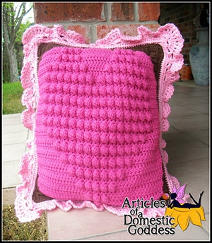 Follow Your Heart Large Pillow by @ArtofaDG | via I Heart Blankets, Pillows & Rugs - A LOVE Round Up by @beckastreasures | #crochet #pattern #hearts #kisses #valentines #love