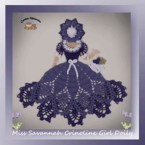 Miss Savannah Crinoline Girl Doily - Crochet Pattern by @crochetmemories Featured at Crochet Memories - Sponsor Spotlight Round Up via @beckastreasures | #fallintochristmas2016 #crochetcontest #spotlight #crochet #roundup
