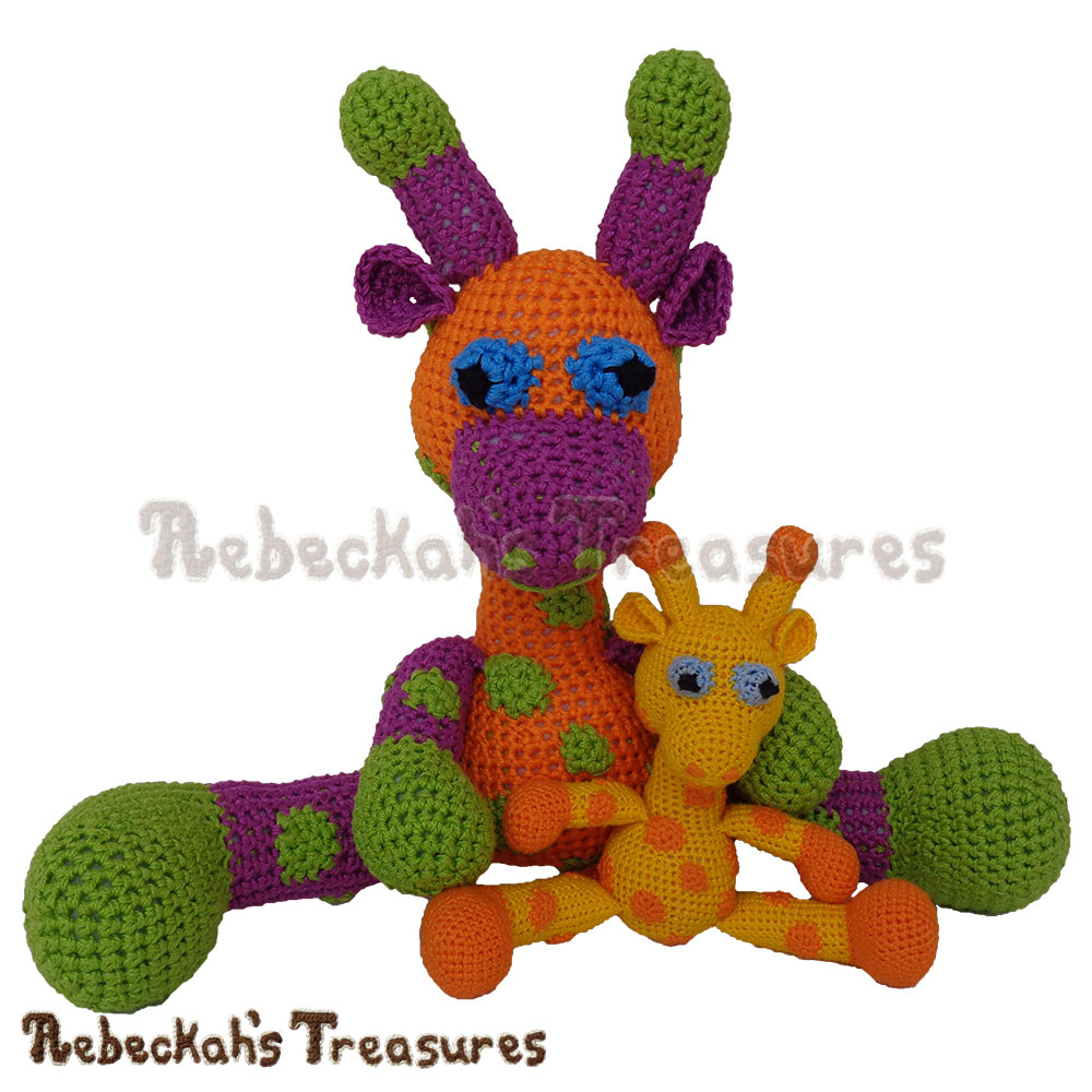 Big and Little Otis Pals! | Otis Giraffe Amigurumi CAL with @beckastreasures! Starts April 3, 2017. 6 parts over the course of 3 weeks... #crochet #pattern #giraffe #CAL #amigurumi