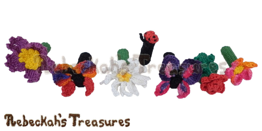 Dreaming of Pencil Toppers - Garden Designs | Free crochet patterns coming to @beckastreasures July-August 2016!