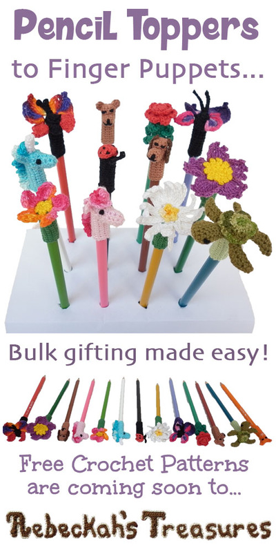 Dreaming of Pencil Toppers | Free crochet patterns coming to @beckastreasures July-August 2016!