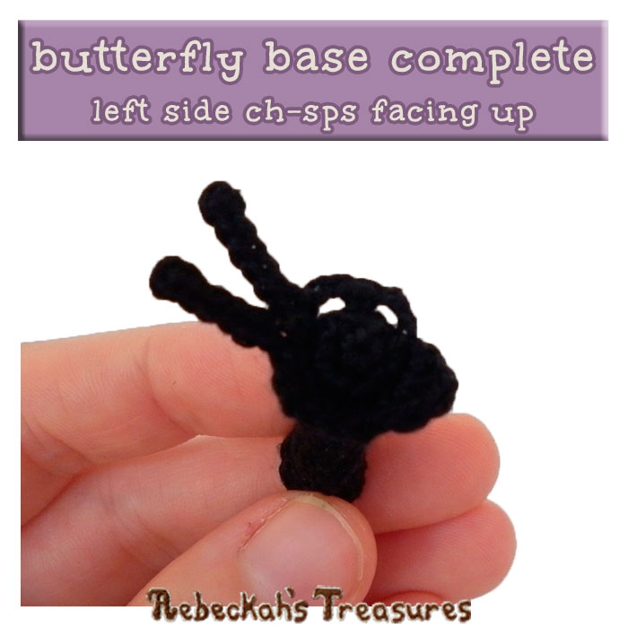WIP Picture 2 | The base of the Elegant Butterfly complete via @beckastreasures | FREE Pencil Topper / Finger Puppet Crochet Pattern!